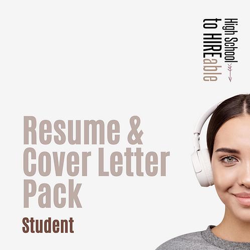 Student | Resume & Cover Letter Pack