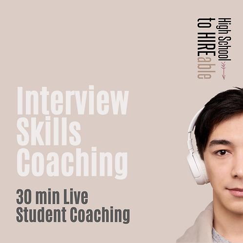 Student | Interview Skills Coaching 30mins