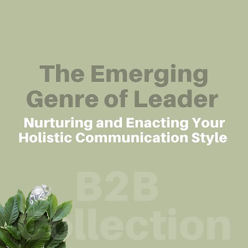 B2B | Emerging Genre of Leader | (Revised Product Under Development)