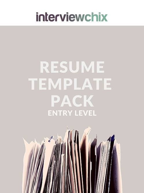 Entry Level Resume & Cover Letter Template Pack