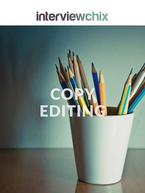 Copy Editing - Per Hour