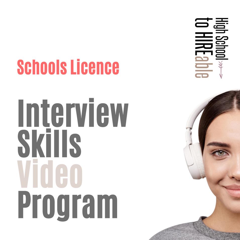 Schools Interview Skills Video Program $49