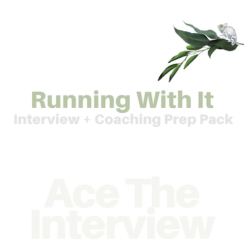 Ace The Interview-Running With It | Int Prep+Resume Guide + Coaching | 25% Savin