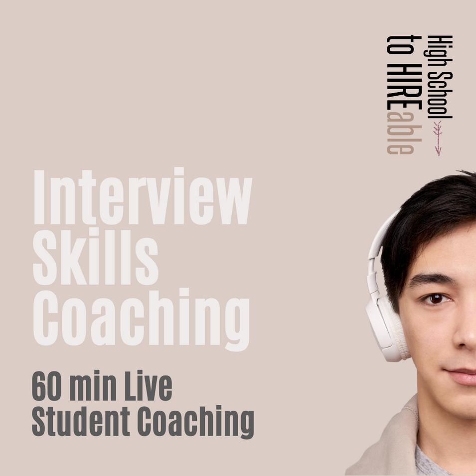 60 Min Interview Skills Coaching | Student | $180 + GST