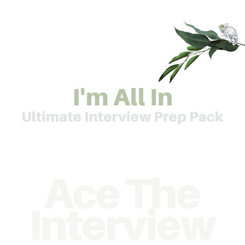 Ace The Interview - I'm All In | Interview Prep The Works | 25%+ Saving