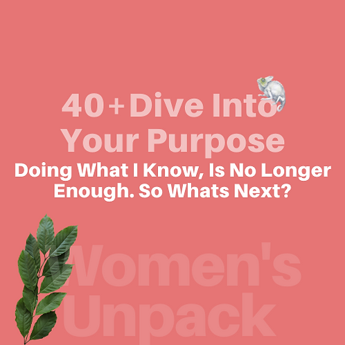 Women's Unpack Collection  | When Doing What You Know Is Not Enough