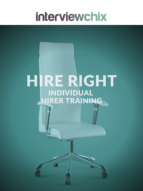 HIRE RIGHT for BUSINESS Interview Skills Individual Training For Hirers (1 Hour)
