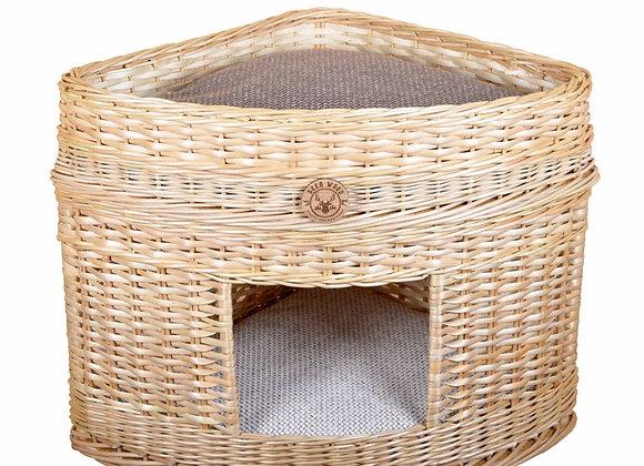 Плетеный домик  с лежанкой для животных 45*47*48 см