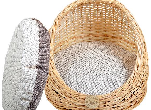 Плетеная лежанка полузакрытая для животных 40*39 см