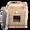 Thumbnail: Плетеный домик квадратный с лежанкой для животных 42*42*48 см