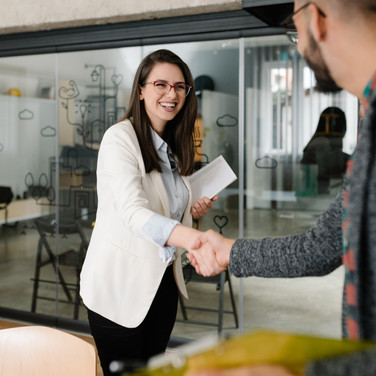 Openly greeting a job recruiter with a f