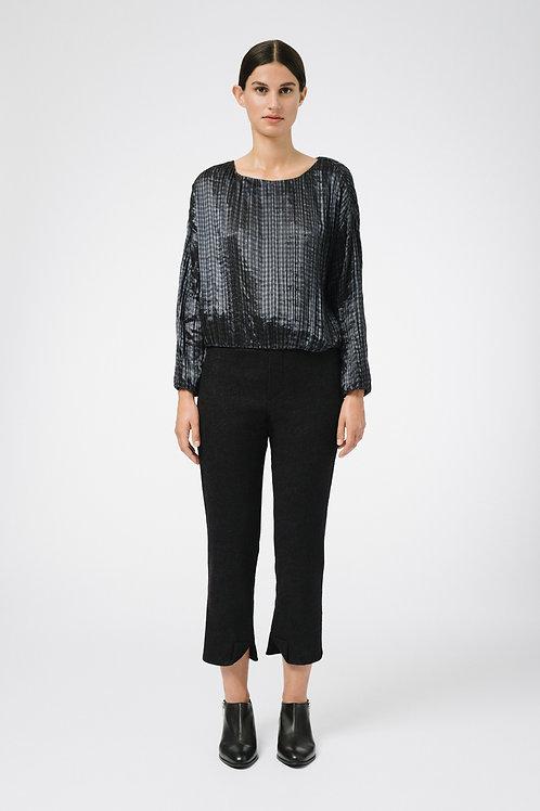 Silk pleated jumper