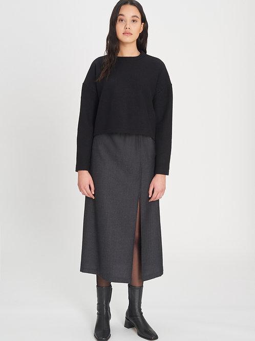 Slit Skirt melange grey