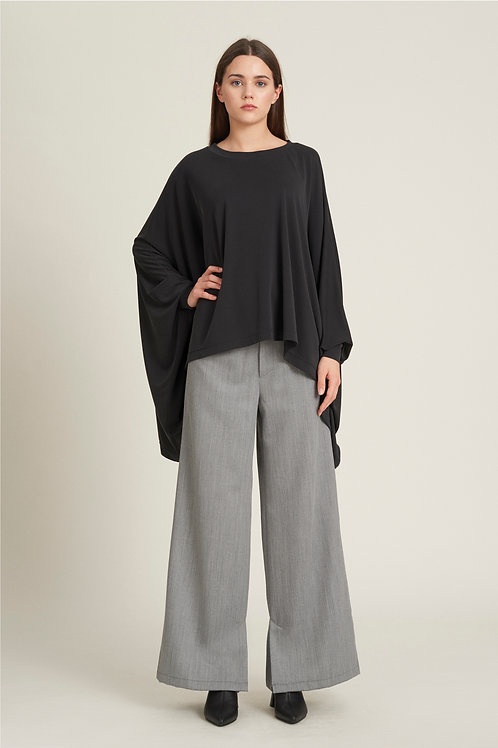 Slit Wool Trousers