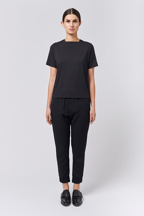 Square-neck T-Shirt black