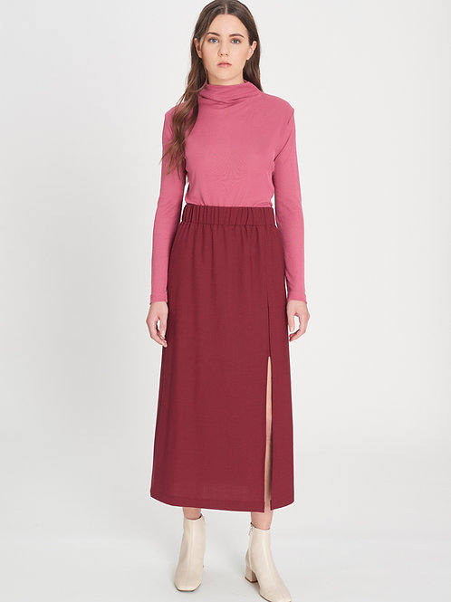 Tencel Turtleneck cassis