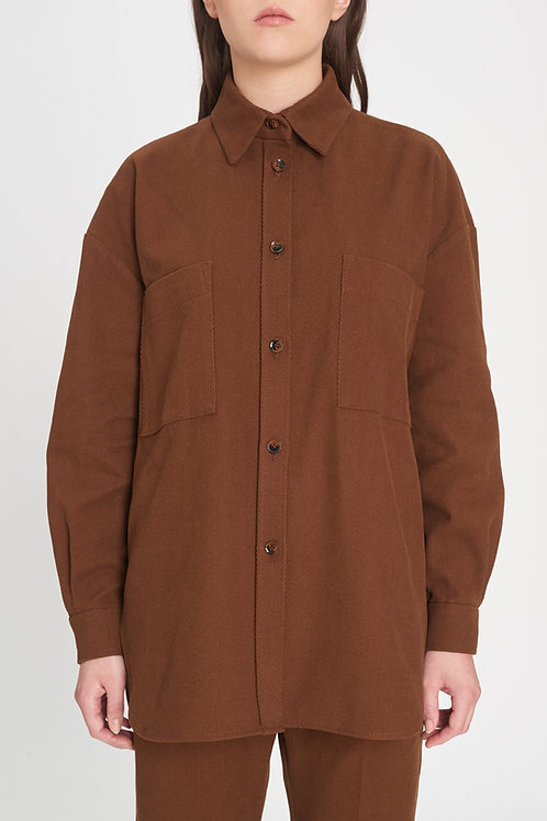 Oversized Shirt almond brown