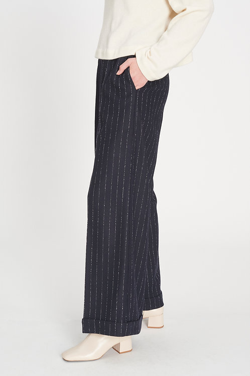 Turn-up Trousers midnight blue