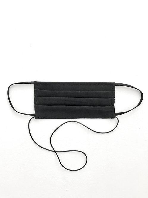 Soft Pleat Mask Black