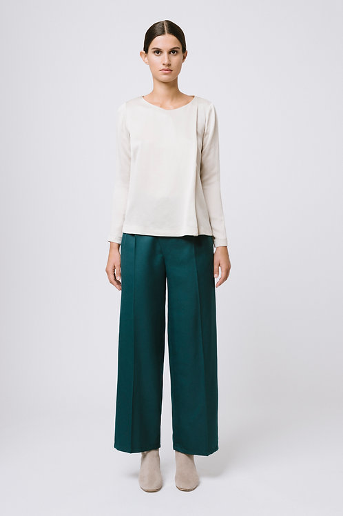 loose fit asymetrical trousers
