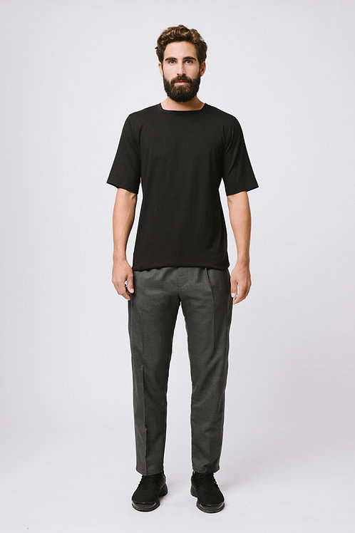 Black Square-Neck T-Shirt