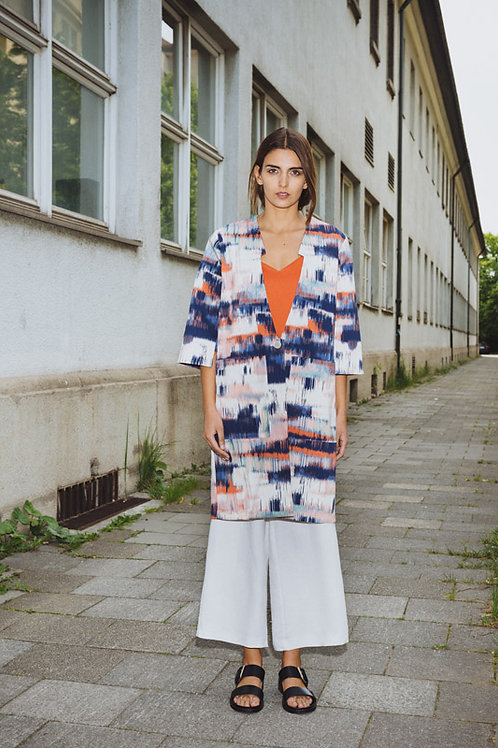Printed Summer Coat with Sleeve Detail