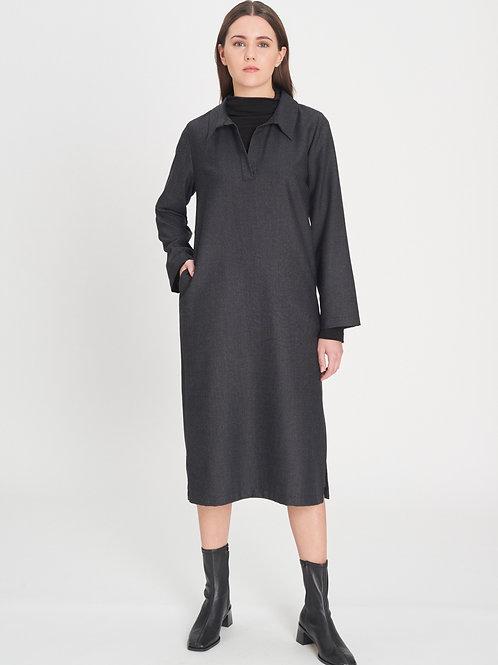 Collar Dress melange grey
