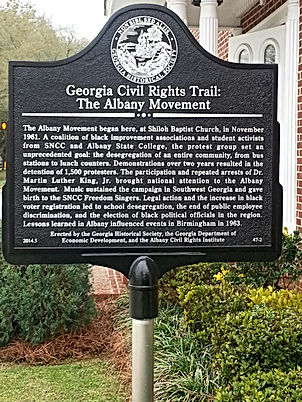 Shiloh Baptist Church Civil Rights Trail Marker