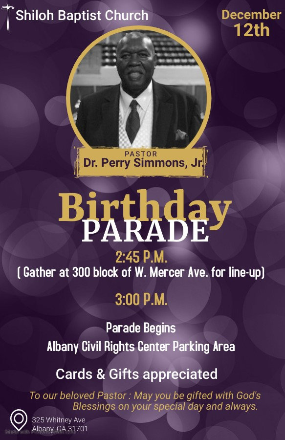 Pastor Dr Perry Simmons Birthday Templat