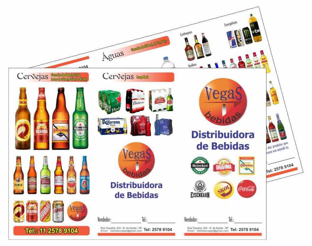 Vegas Bebidas Catalogo - 20x30 - 2 dobra