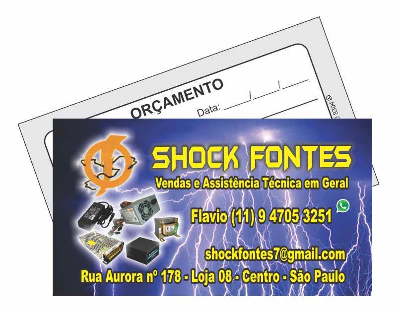 Shock Fontes - CV 240g - 4x1 cores