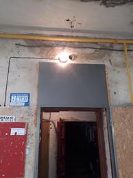 4Електромонтерами ТОВ УК Корабельний» було відновлено освітлення в будинку по вулиці Райдужна 49 біля під'їздів 2 та 3.jpg