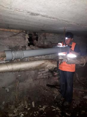 В рамках поточного ремонту наші робітники виконали часткову заміну аварійних труб каналізації в будинку за адресою вулиця Знаменська, 431.jpg