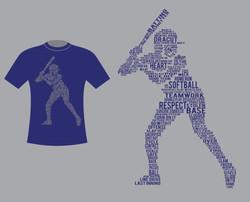 Shirt Design for Dracut Softball