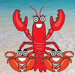 Lobster illustration for restaurant