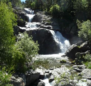 Cascada de Sant Esperit desde el Parking de la Palanca de la Molina