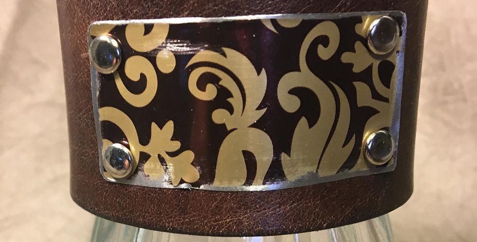 Tin and Leather Cuff #3