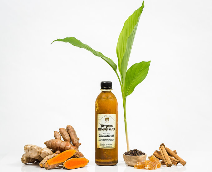 Medium- Dr Teh'sTurmeric Elixir- 2x 500ml Bottles (GST inc)