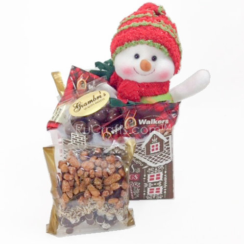 Seasons Greetings Snowman Treat Box