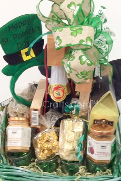 The Super Lucky 4 Leaf Clover St. Patty's Basket