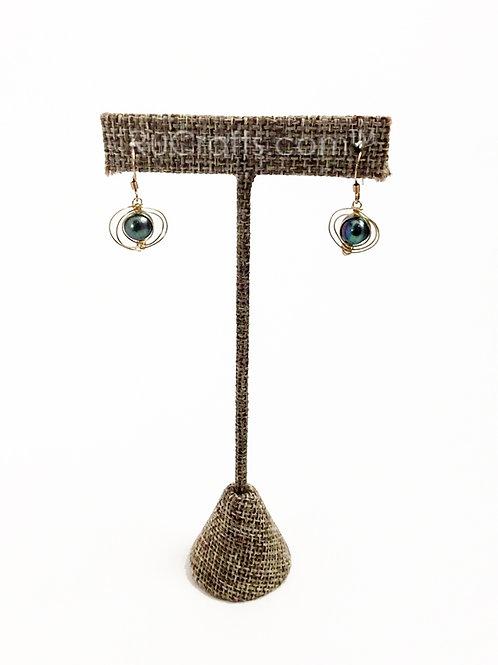 Greenish-Brown Pearl Earrings