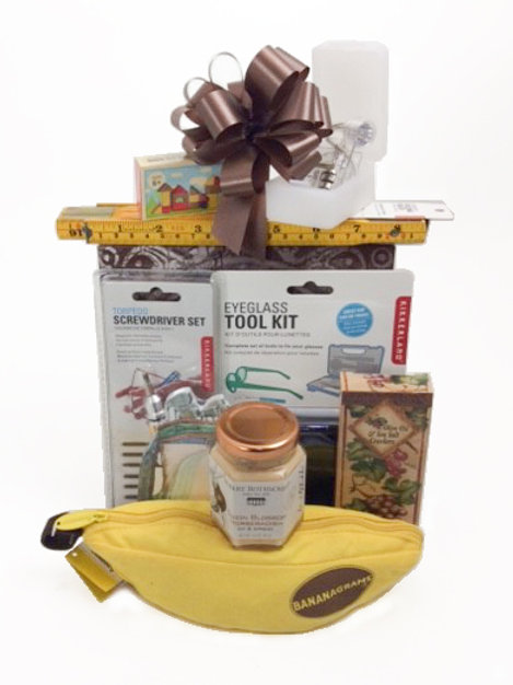 Fun Gifts in a Large Brown Box