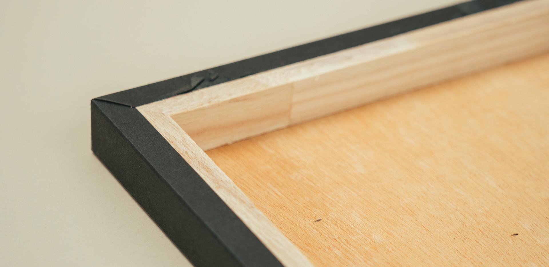 木製パネル 裏面