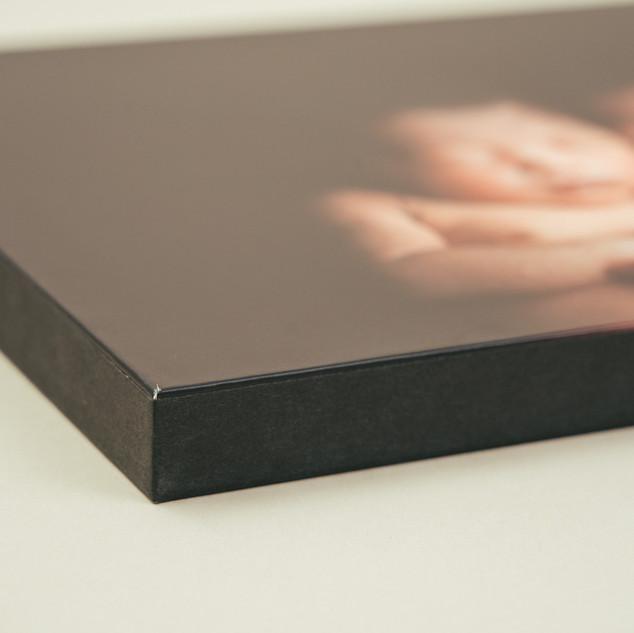 木製パネル 側面 黒テープ