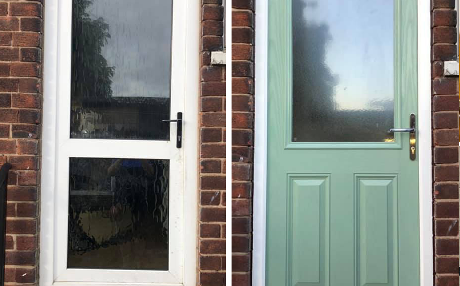 Door Replacement. Before & After