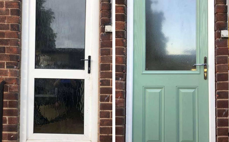 Door Replacement. Before & After
