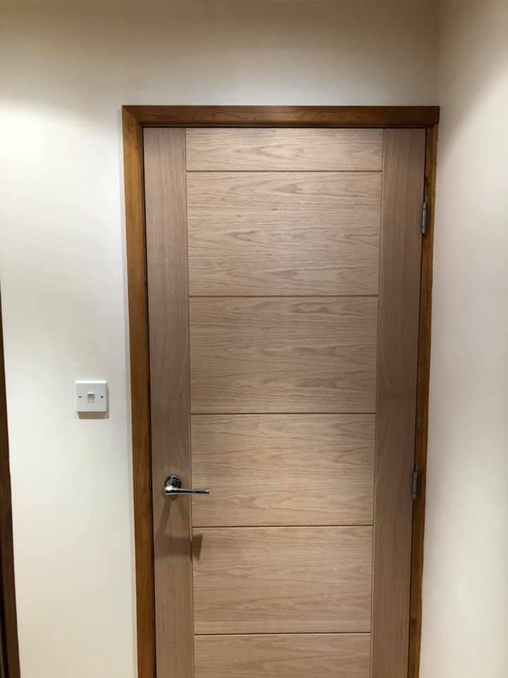 Oak doors fitted