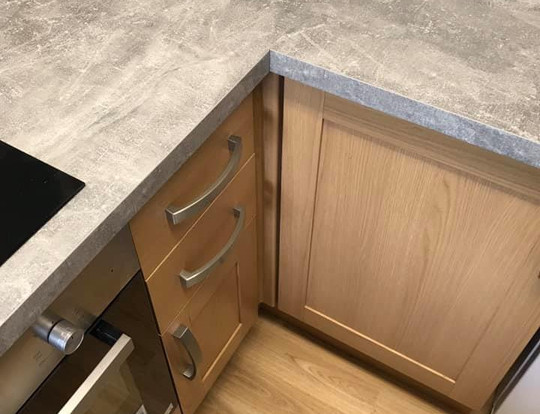 New worktops and cupboards