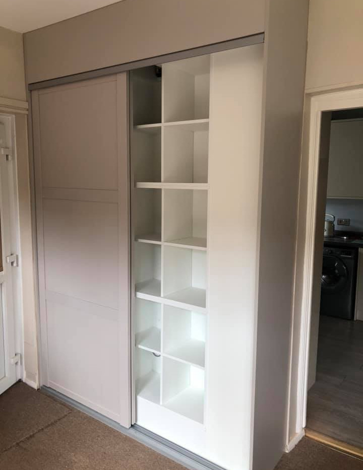 Fitted wardrobes, space saving.