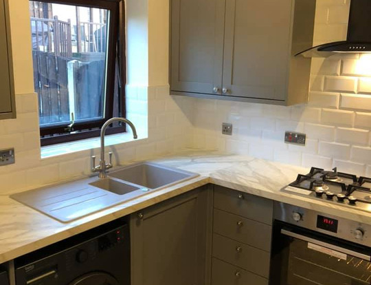 Modern kitchen fitted.